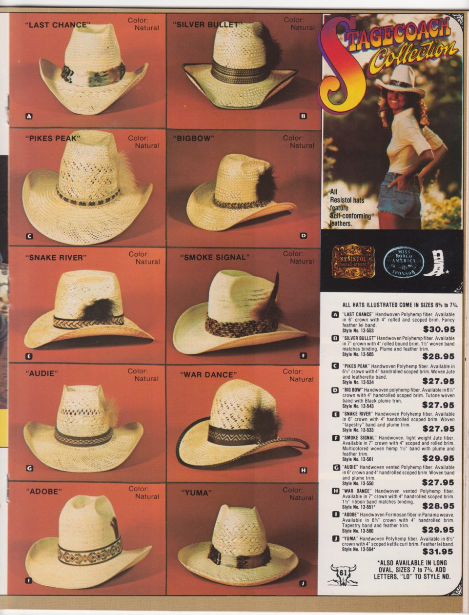 Who s riding shotgun  The Resistol Stagecoach Line of Western Hats ... 69bd7a018d92